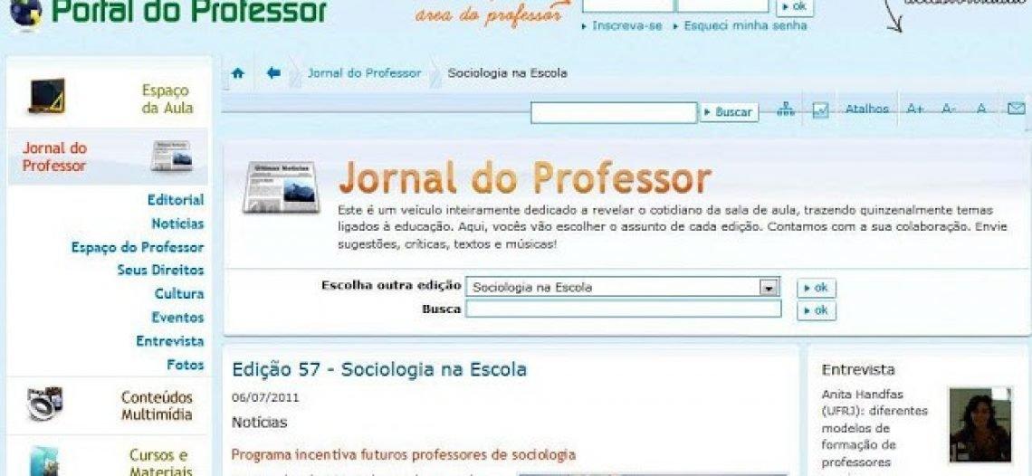 Prática de estudantes de licenciatura em Sociologia é destaque no Portal do Professor