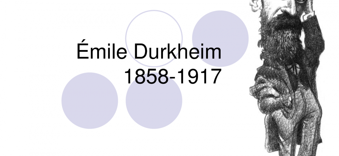 Algumas premissas teórico-metodológicas de Émile Durkheim.
