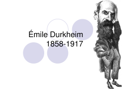 Algumas premissas teórico-metodológicas pensamento durkheimiano