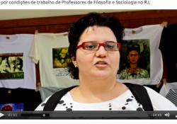 A luta por condições de trabalho de Professores de Filosofia e Sociologia no RJ.