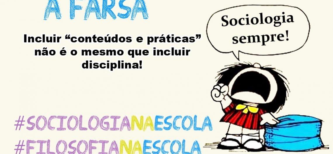 Farsa aprovada na Câmara dos Deputados: exclui-se sorrateiramente a Sociologia e a Filosofia