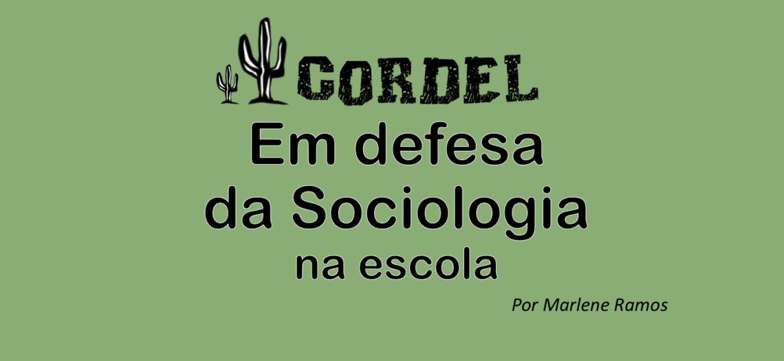 Cordel em defesa da Sociologia na escola