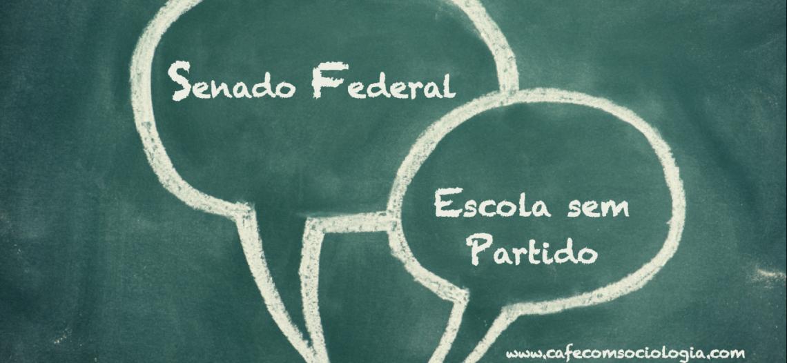 Experiência docente: Simulando o Senado Federal na escola e discutindo o PL Escola sem Partido