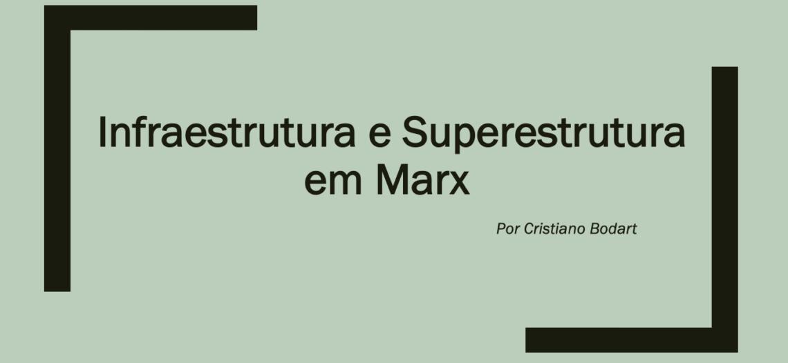 Infraestrutura e superestrutura em Marx