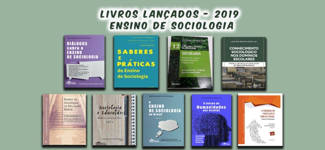 Lançamentos de livros sobre o Ensino de Sociologia no ENESEB 2019