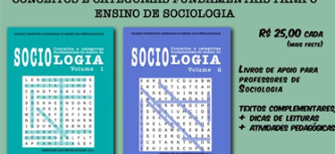 """[Encerrado] Pré-venda dos livros """"Conceitos e Categorias Fundamentais do ensino de Sociologia"""", vol.1 e vol. 2"""